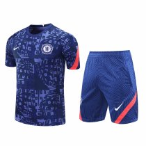 Mens Chelsea Short Training Suit UCL Blue 2020/21
