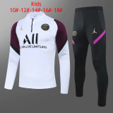 Kids PSG x Jordan Training Suit White - Purple II 2020/21