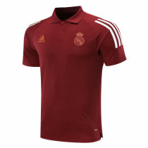 Mens Real Madrid Polo Shirt UCL Maroon 2020/21