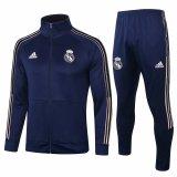 Mens Real Madrid Jacket + Pants Training Suit Navy 2020/21