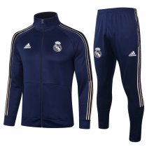 Mens Real Madrid Jacket + Pants Training Suit Navy 2020/21