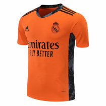 Real Madrid Goalkeeper Orange Jersey Mens 2020/21
