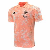 Mens Arsenal Polo Shirt UCL Chalk Coral Texture 2020/21
