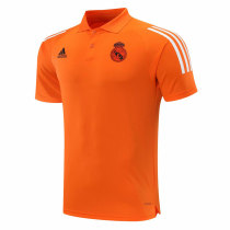 Mens Real Madrid Polo Shirt UCL Orange 2020/21