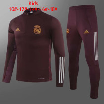 Kids Real Madrid Training Suit UCL Maroon 2020/21