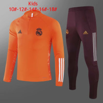 Kids Real Madrid Training Suit UCL Orange 2020/21