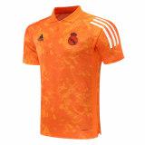 Mens Real Madrid Polo Shirt UCL Orange Texture 2020/21
