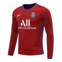 PSG Goalkeeper Red Long Sleeve Jersey Mens 2020/21