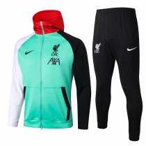 Mens Liverpool Hoodie Jacket + Pants Training Suit Green 2020/21