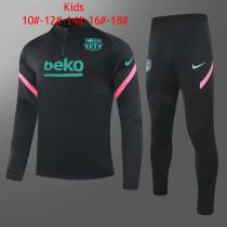 Kids Barcelona Training Suit Black 2020/21