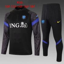 Kids Netherlands Training Suit Black 2020/21