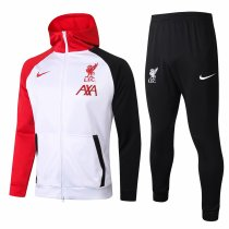 Mens Liverpool Hoodie Jacket + Pants Training Suit White 2020/21