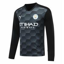 Manchester City Goalkeeper Black Long Sleeve Jersey Mens 2020/21