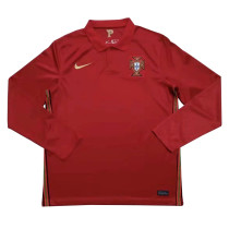 Portugal Home Jersey Long Sleeve Mens 2020