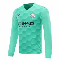 Manchester City Goalkeeper Green Long Sleeve Jersey Mens 2020/21