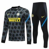 Mens Inter Milan Training Suit Grey 2020/21