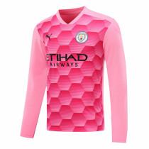 Manchester City Goalkeeper Pink Long Sleeve Jersey Mens 2020/21
