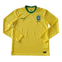 Mens Brazil Home Jersey Long Sleeve 2021