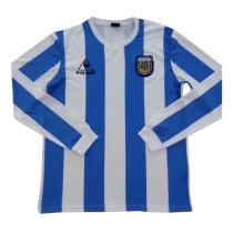Argentina Home Retro Jersey Long Sleeve Mens 1986