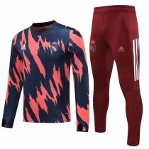 Mens Real Madrid Training Suit Navy - Pink 2020/21