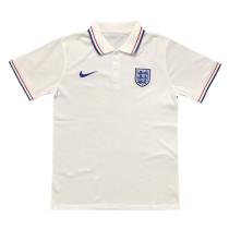 Mens England Polo Shirt White 2020/21