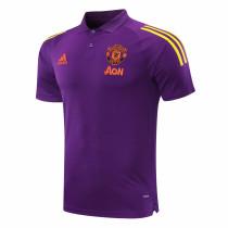 Mens Manchester United Polo Shirt Purple 2020/21