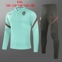 Kids Portugal Training Suit Green 2020/21