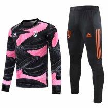 Mens Juventus Training Suit UCL Black - Pink 2020/21