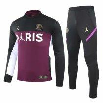 Mens PSG x Jordan Training Suit Purple - Black 2020/21
