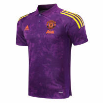 Mens Manchester United Polo Shirt UCL Purple 2020/21