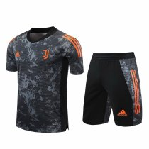 Mens Juventus Short Training Suit UCL Grey 2020/21