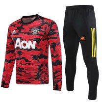 Mens Manchester United Training Suit Christmas Red - Black 2020/21
