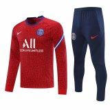 Mens PSG Training Suit Crew Neck Red 2020/21
