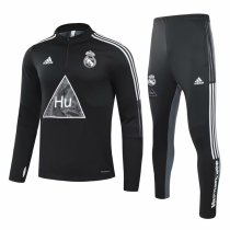 Mens Real Madrid Training Suit Human Race Black 2020/21