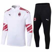 Mens AC Milan Training Suit White 2020/21