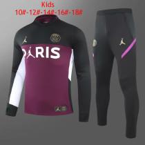 Kids PSG x Jordan Training Suit Black - Purple 2020/21