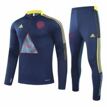 Mens Arsenal Training Suit Human Race Blue 2020/21