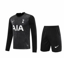 Tottenham Hotspur Goalkeeper Black Long Sleeve Jersey + Shorts Set Mens 2020/21