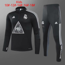 Kids Real Madrid x Human Race Training Suit Black 2020/21