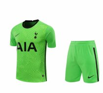 Tottenham Hotspur Goalkeeper Green Jersey + Shorts Set Mens 2020/21
