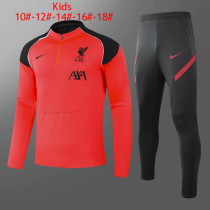 Kids Liverpool Training Suit Orange 2020/21