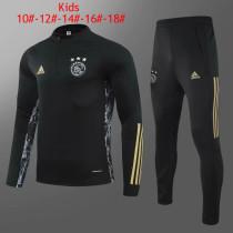 Kids Ajax Training Suit UCL Black 2020/21