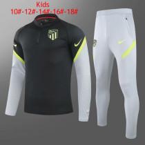 Kids Atletico Madrid Training Suit Black 2020/21