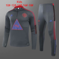 Kids Manchester United x Human Race Training Suit Grey 2020/21