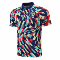 Mens Barcelona Polo Shirt Colorful 2020/21