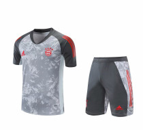 Mens Bayern Munich Short Training Suit Grey 2020/21