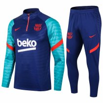 Mens Barcelona Training Suit Blue - Green 2020/21