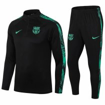 Mens Barcelona Training Suit Black - Green 2020/21