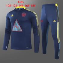 Kids Arsenal x Human Race Training Suit Blue 2020/21
