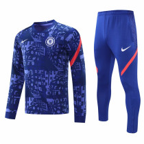 Mens Chelsea Training Suit Blue Texture 2020/21